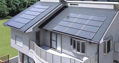 Resultado de imagem para casas com energia solar